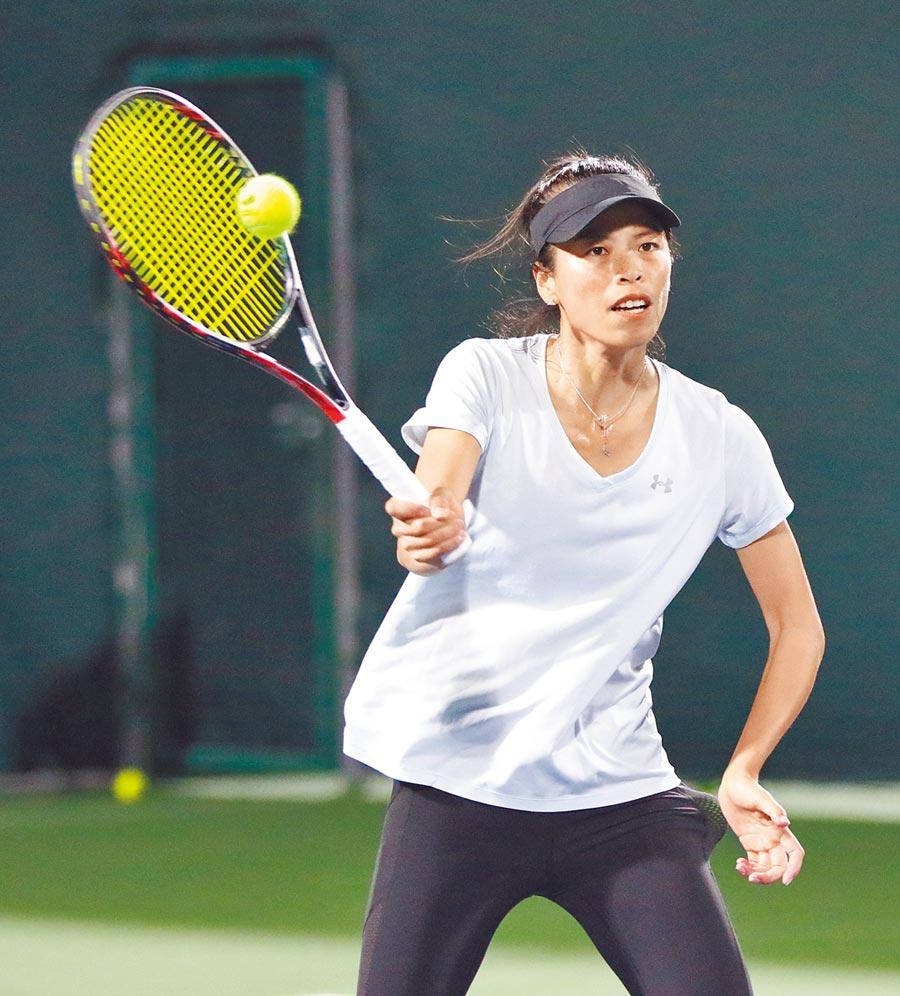 謝淑薇為赴美參加印地安泉公開賽,提前離開聯邦盃中華女網隊,但印地安泉賽事卻突然取消。(資料照/四維體育推廣教育基金會提供)