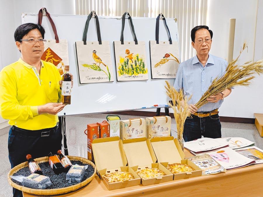 邁入第3年的台南學甲小麥節活動將於3月14日、15日登場,除了可以觀賞金黃麥浪美景外,還有農特產品展售、手提袋拓印體驗,精采可期。(莊曜聰攝)