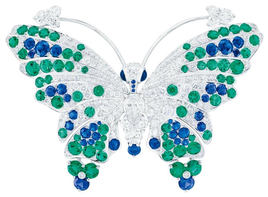 梵克雅寶年度新款Melissa蝴蝶胸針。(Van Cleef & Arpels提供)