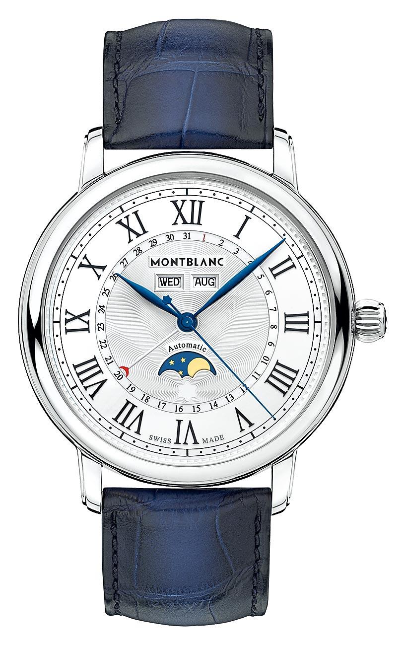 朴敘俊在《梨泰院Class》佩戴父親的萬寶龍明星傳承系列全日曆腕表,14萬8500元,有傳承父志的意義。(Montblanc提供)