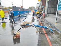 捷運工地旁 新店一度積淹水