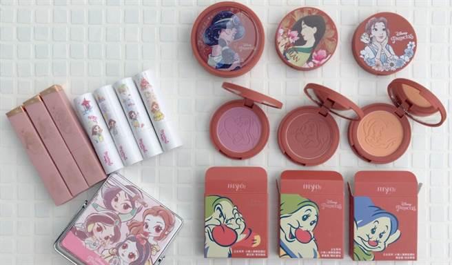 FreshO2推出迪士尼授權公主系列限量彩妝。(圖/邱映慈攝影)