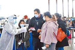武漢機場防疫嚴 人員醫用級防護