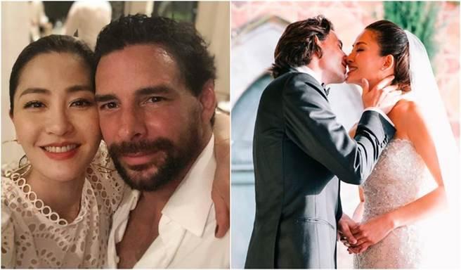 周汶锜和法籍老公不时放闪,未料男方被拍和女伴当街热吻。(图/翻摄自IG)