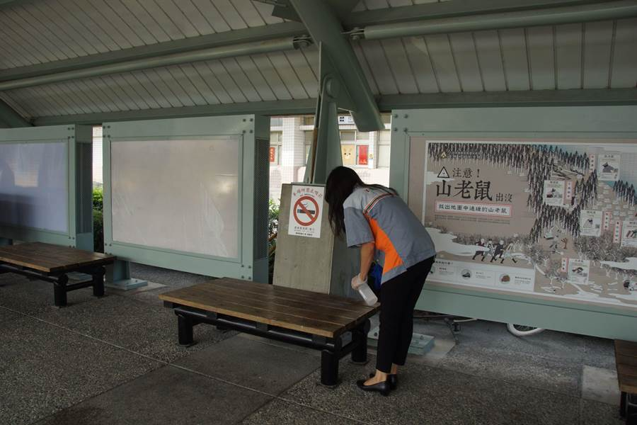 火車站與超商攜手防疫。(翻攝照片/楊漢聲台東傳真)