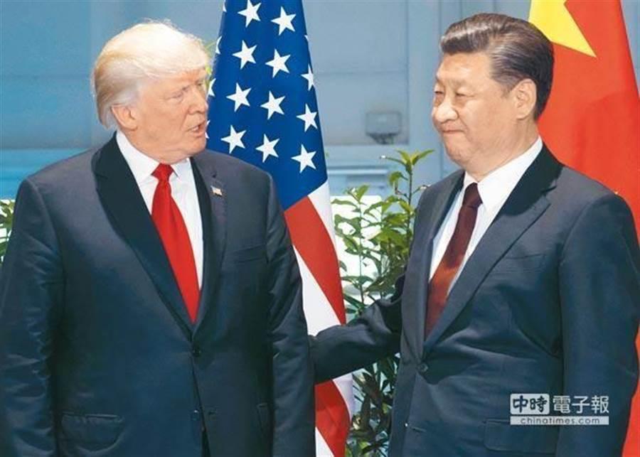 美國總統川普(左)、大陸國家主席 習近平。(圖/本報資料照)