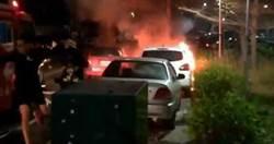 情感糾紛6旬翁暴怒 自製汽油彈燒女友車