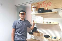 TriEye運動墨鏡 內建後視鏡