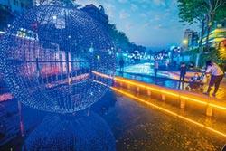 藍調中港光雕秀 延長展至4月5日