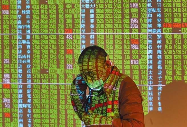台北股市在歐美新冠肺炎疫情漸失控下,曾開盤跌破萬點。(鄭任南攝)