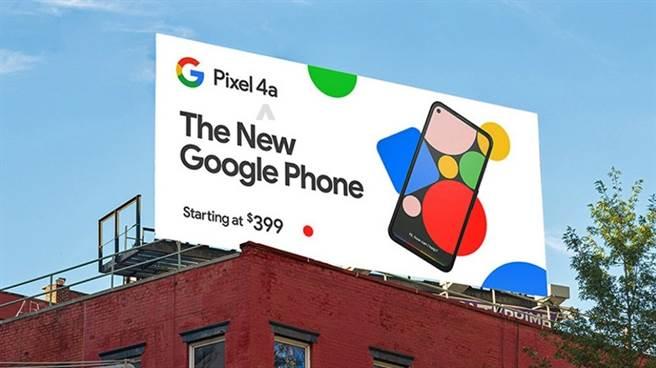 爆料達人 @evleaks 分享的 Pixel 4a 廣告看板圖。(摘自Twttter)