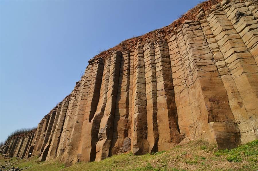 澎湖西嶼大果葉柱狀玄武岩。圖:五福提供