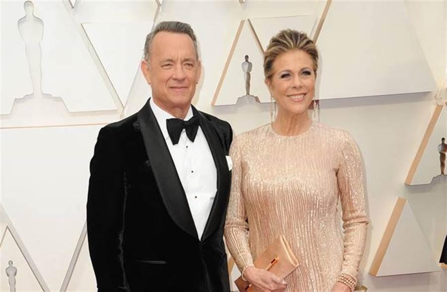 好萊塢影帝湯姆漢克成為全球首例確診新冠肺炎的明星,他和妻子麗塔威爾遜目前正在接受治療中。(圖/達志影像)