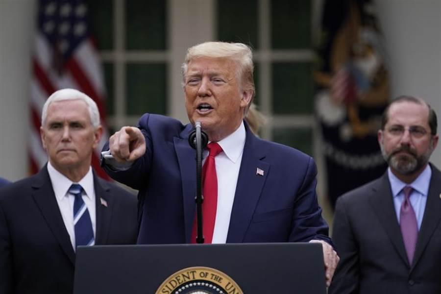 對於陸外交部發言人趙立堅稱「美軍帶入疫情」,美國總統川普表示,「大陸知道病毒從哪來,我們也知道」。(美聯社)