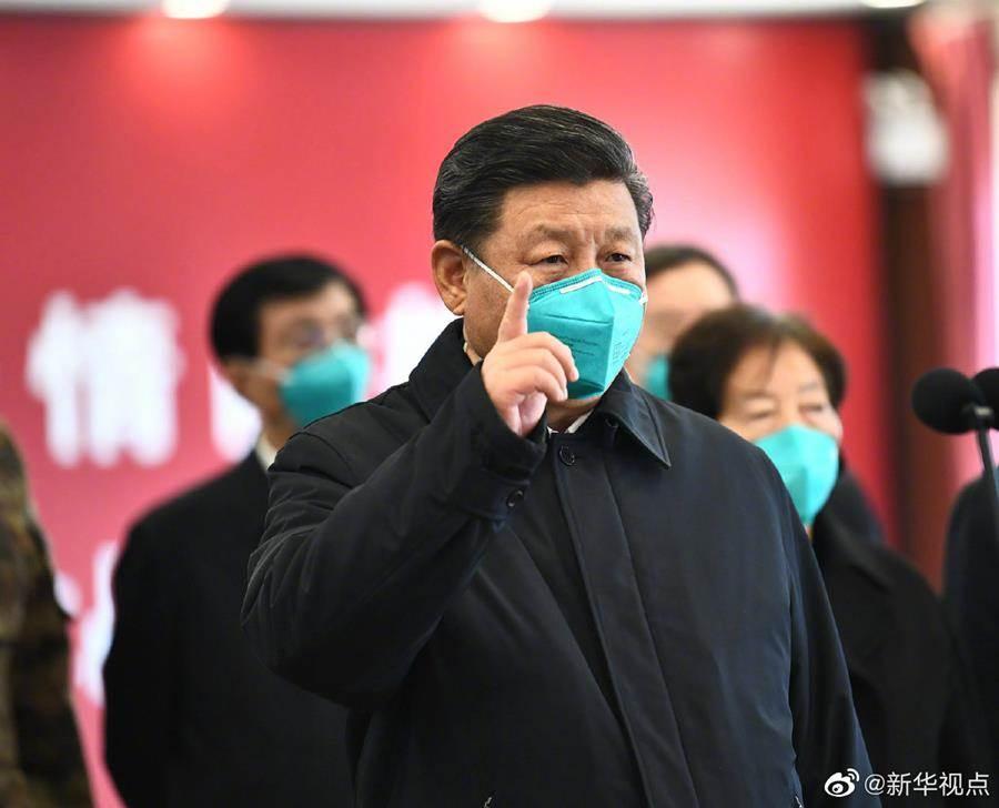 中共總書記習近平近日接連致電給南韓、義大利、伊朗三國總統,對疫情表達慰問。圖為10日習近平視察武漢。(新華社)