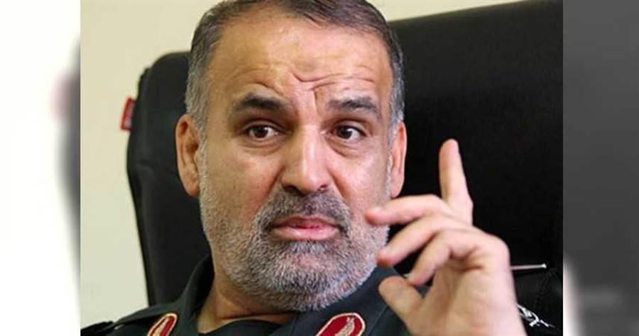 伊朗革命衛隊高級指揮官沙巴尼,因感染新冠肺炎病逝。(圖/翻攝自推特@The_NewArab)