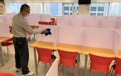 防疫!台中市府員工餐廳如「一蘭拉麵」設隔離座位