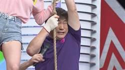 胡瓜玩遊戲太拚命「小小瓜」卡輪胎 現場男藝人驚呼「好痛」
