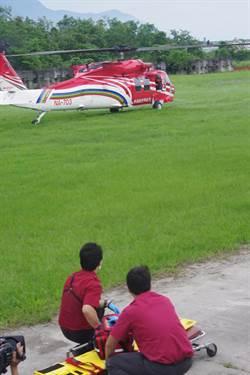 花蓮去年山難搜救17起 義消加入空勤接機特訓