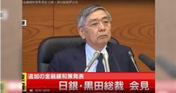 日銀總裁:經濟會放緩 但不到雷曼兄弟等級