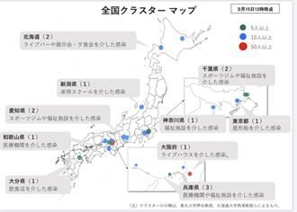 日公布群聚感染地圖提醒民眾注意