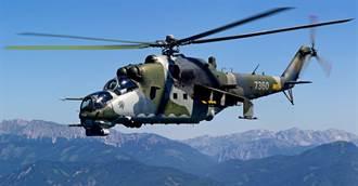 俄軍Mi-35武裝直升機 不慎對公寓開火
