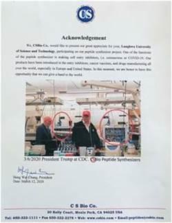 龍華科大與美CSBio生技產學合作CDC抗疫藥物研發幕後尖兵