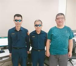 大雅警友送護目鏡 員警值勤裝備升級