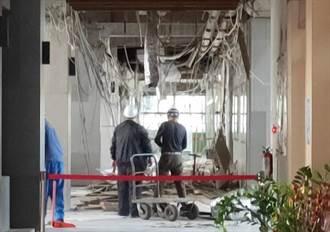 嘉縣府一樓天花板無預警崩塌 員工虛驚