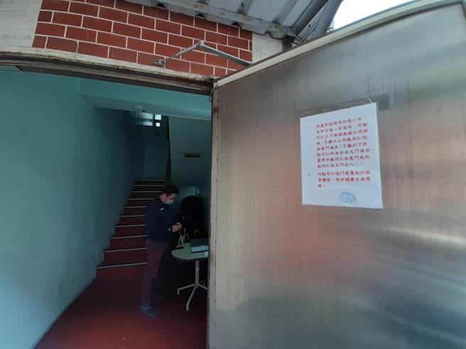 東勢警分局祭出4種防疫殺手鐧,圖為上班前SOP流程。(東勢警分局提供/陳淑娥台中傳真)