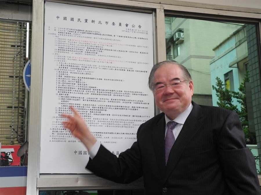 國民黨祕書長李乾龍。(黃福其攝)