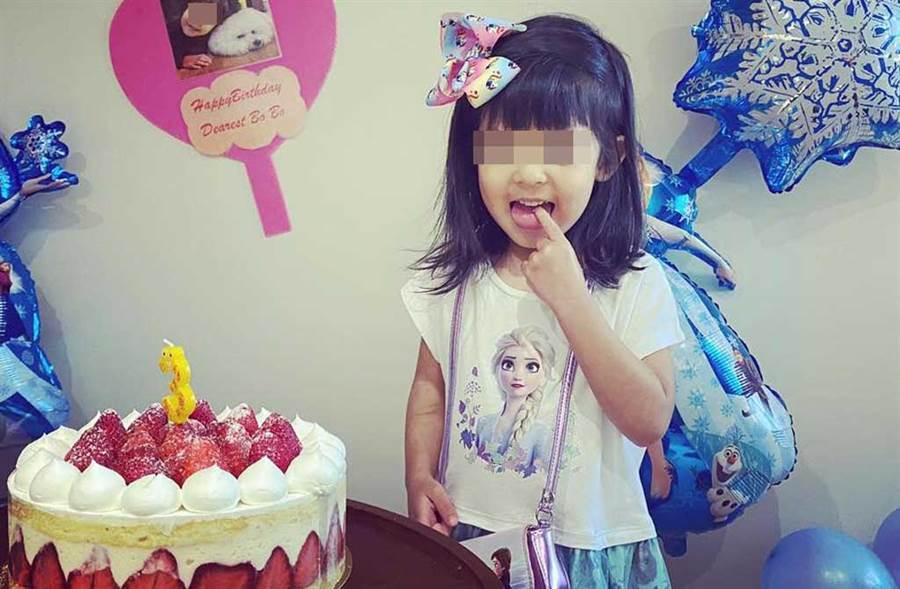 Bo妞3歲生日願望是去滑雪,但因疫情取消。(翻攝自賈靜雯臉書)