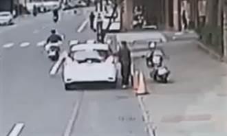婦接小孩遭2男狂拍車窗 警鎖定涉案人