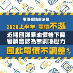經濟部宣布4月電價凍漲 10月可能有調整空間