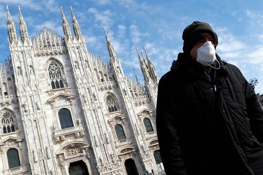 義大利的新冠肺炎疫情嚴峻,死亡人數逼近3千。(圖/路透社)
