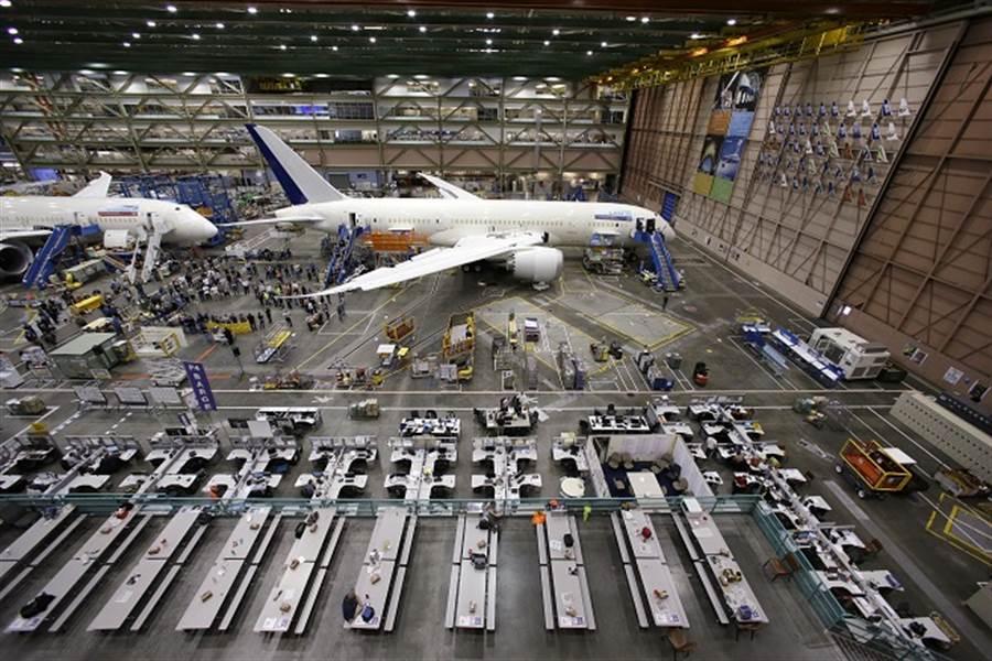 航空業遇浩劫先別碰!謝金河:波音跌破100美元,可以找買點。(圖/美聯社資料照)