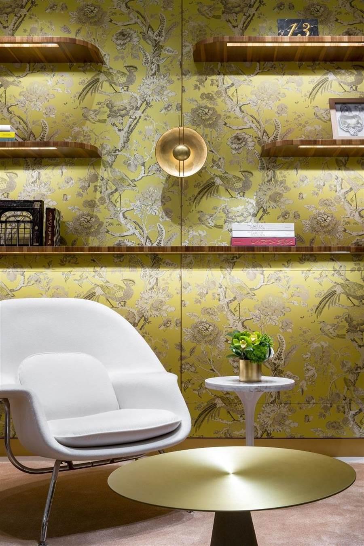 卡地亞台中店的VIP室提供一對一的頂級服務,金箔裝飾牆面法國品牌ATELIER GOHARD打造。(Cartier提供)