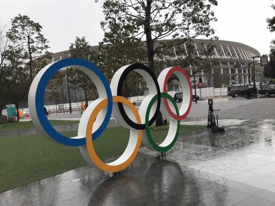 奧林匹克五環。(黃樹德提供)