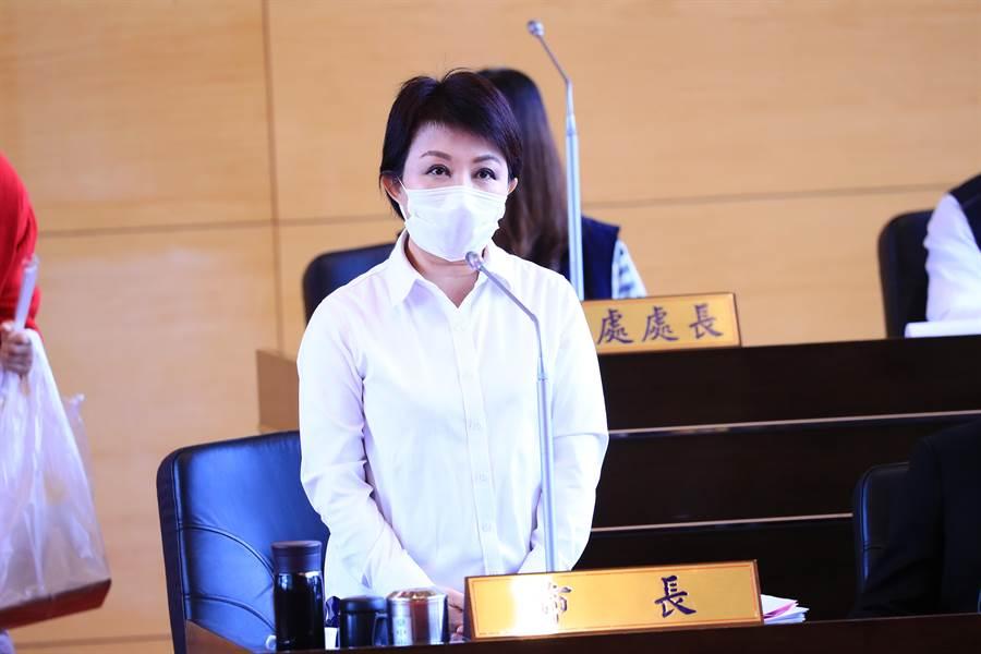 台中市長盧秀燕說,中市都發局長「居家辦公」降低風險,一切依照SOP落實防疫措施,加強管制工作。(陳世宗攝)