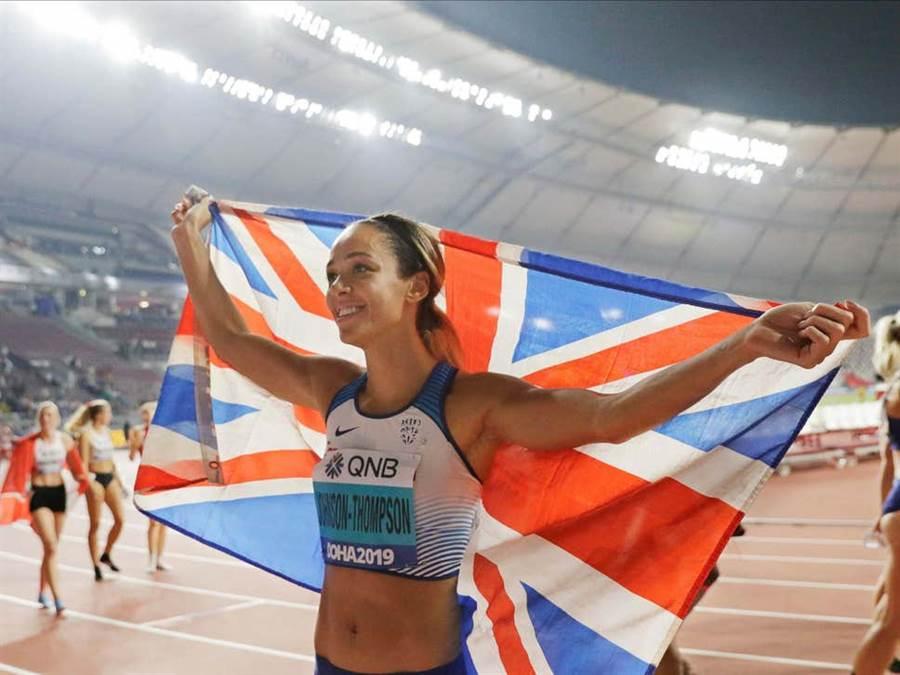 田徑世錦賽、英國女子七項金牌名將湯普森砲轟國際奧會忽視運動員的感受與心聲。(美聯社資料照)