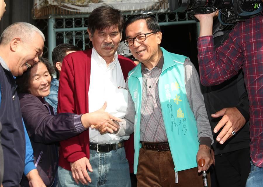 前總統陳水扁。(鄭任南攝)