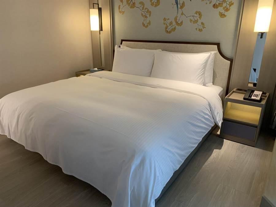 北市第3家防疫旅館,提供100間房間,一晚要價7500元。(張薷攝)