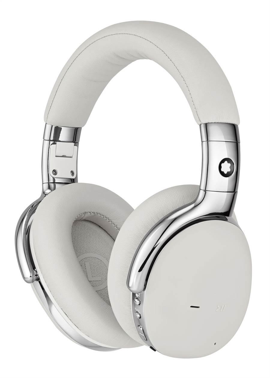 萬寶龍MB01全罩式耳機,白色款售價2萬400元。(Montblanc提供)