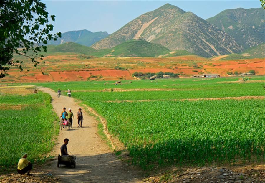北韓北部的鄉下。(shutterstock)