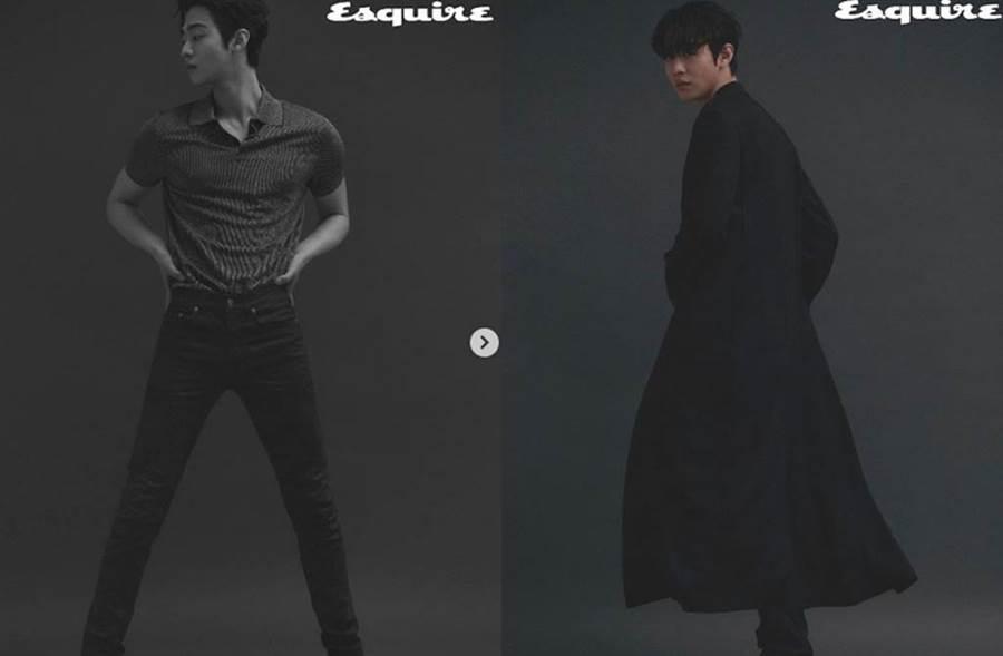 安孝燮為時尚雜誌拍攝一系列性感寫真。(圖/翻攝自安孝燮IG)