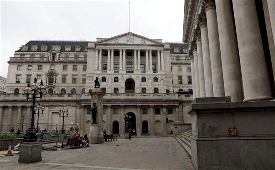 英銀(英國央行)19日宣布,調降利率至0.1%的史上新低。(路透)