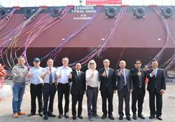 港勤新造駁船下水典禮 可望年中營運