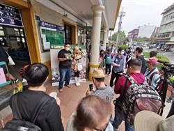 台鐵集集石虎號彰化首航 吸引大批鐵道迷駐守