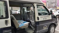 獨》不畏疫情 台中警車自製「透明防疫罩」拚治安