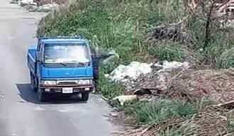 濫丟哥一族被錄到6人 升級開貨車到萬興大排展神擲功...